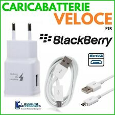 Fast Charger for Blackberry Playbook 4g LTE Wall Outlet + Micro USB Cable