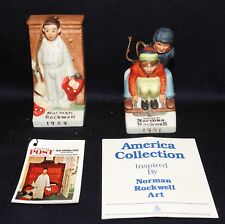 "Lot of 2 Norman Rockwell Christmas Ornaments, ""Discovery"" & Downhill Daring"""