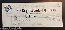 The Royal Bank of Canada Claresholm, Alberta Bank Check 1926