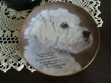 Danbury Mint Collector Plate Faithful Friend Cherished Maltese C4487