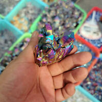 30g Natural Rainbow Aura Titanium Quartz Crystal Cluster VUG Specimens Healing