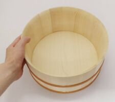 Japanese Oke wood Bath yuoke Onsen Hot Spa Bowl 22 x 11cm
