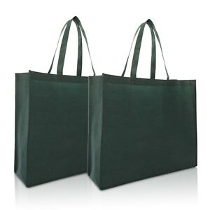 """DALIX 20"""" Extra Large Reuseable Eco-Friendly Recycled Material Tote Bag 2 Pack"""