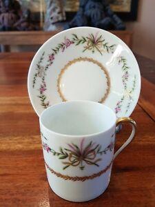 Très Jolie Tasse A Café Litron Porcelaine Limoges RAYNAUD VIEUX VENISE