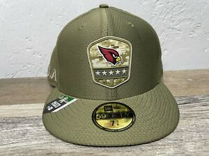 New Arizona Cardinals Salute to Service Hat NEW ERA 59Fifty Fitted SIZE 7 3/8