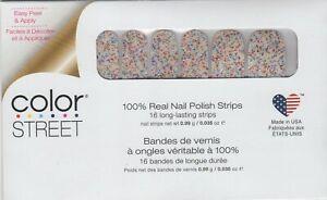 CS Nail Color Strips Sugar High Rainbow Glitter Overlay100% Nail Polish-USA Made