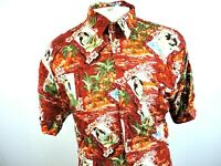 "Marc Edwards Mens Red Hawaiian Button Front Shirt Size Large ""JJ"""