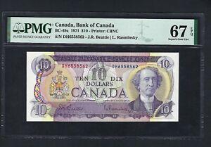 Canada 10 Dollars 1971 BC-49a Uncirculated Graded 67