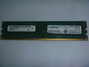 Crucial 4GB (1 x 4GB) RAM Memory DDR3 Desktop PC3-10600u DDR3 1333