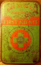 Vintage 1950s Boy Scouts of America Official First Aid Kit Tin