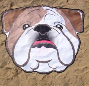 Bulldog Shape Animal Towels Summer Beach Blankets Tapestry Dog One Piece Soft