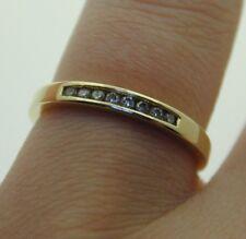 Diamond & 14 Ct Yellow Gold 14K Half Eternity Ring Chanel Set 1.7 g size M 1/2
