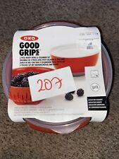 Oxo Good Grips 3 Piece Berry Bowl & Colander Set Red Food Prepware Kitchen New