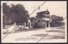 NOVARA CITTÀ 295 STRADALE VERCELLI - MADONNA DEL BOSCO Cartolina viaggiata 1925