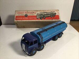 Dinky Supertoys 504 Foden 14 Ton Tanker Truck In Original Box