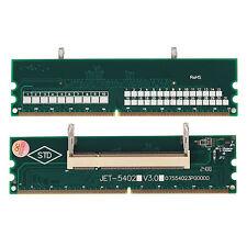 2x Neuf DDR2 Laptop So-Dimm To Desktop Dimm Memory RAM Adapter 200Pin to 240Pin