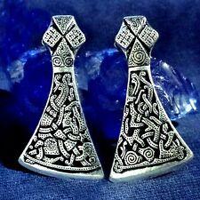 Amulett MAMMEN AXT Axe Wikinger Viking Pendant Bronze versilbert plated V2