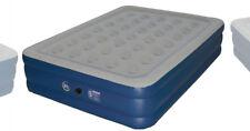 """SERTA Raised Queen 18"""" Air Mattress Bed Never Flat Pump Blue ST8400 New w/ Bag"""