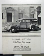 1938 Packard Six Owners Manual Owner Guide Book includes wiring diagram 6 1600