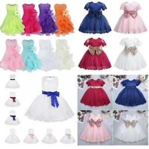 Baby Girls Flower Dress Princess Tutu Gown Birthday Party Pageant Formal Dress
