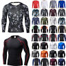 Baselayer Compression Men Skin Fit Long Sleeve Sports Fitness Shirt Running Top