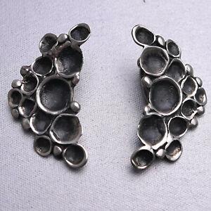Ohr- Clips, Silber 925, Organic Schmuck Design- H.Lenferink, ungetragen  #12-05