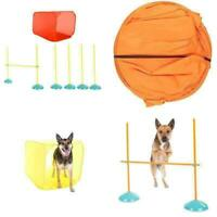 Dog Agility Starter Kit Obstacle Course Training Equipment Tunnel Weave Pole New