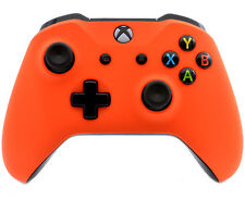 """Soft Touch Orange"" Xbox One S Custom UN-MODDED Controller Unique Design"