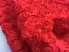 Ribboned Mesh Net (per metre) 'Amaryllis K', dress fabric, womenswear