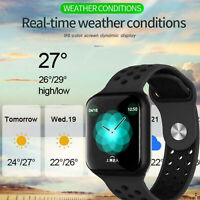 F8 Waterproof Smart Watch Heart Rate Blood Pressure Monitor for iOS Android