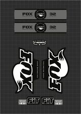 FOX RACING SHOX 32 SERIES FORK DECAL GRAY / BLACK