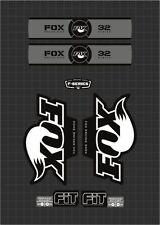 FOX RACING SHOX 32 SERIES FORK DECAL GRAY / BLACK