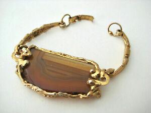 beautiful Vintage Brutalist Space Age Bracelet original 70s Armband  _ Nr. 116