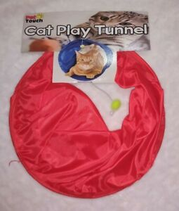Cat Kitten Play tunnel toy with dangly pom pom
