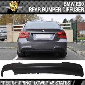 Fits 06-11 BMW E90 3-Series 4DR Sedan M-Tech Msport Rear Bumper Diffuser - PP