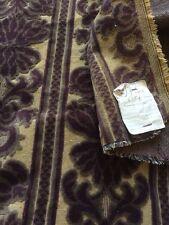 Antique French Woven Cut Velvet Brocade Fabric Fragment Art Nouveau Collectors