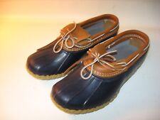 L.L. Bean Moc Boots Women's Blue Maine Hunting Low Duck Shoes New - US 8 W