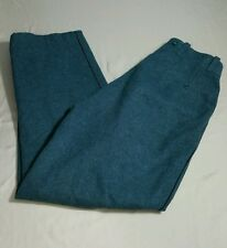 Vintage Neuchatel Military Green Wool Cargo Hunting Fishing Trousers Pants 36x30