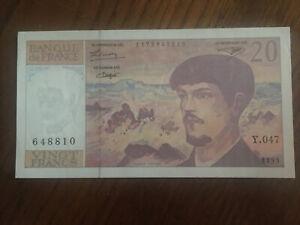 20 francs debussy 1995 NEUF