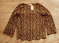 Nwt Michael Kors Sz. M Snake Snakeskin Print Cage Sleeve Shirt $88.