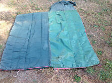 Old Vintage Beater Sleeping Bag with Plastic on One Side For Wet Weather