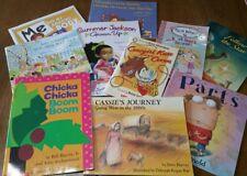 Lot of 10 CHILDREN'S BOOKS Chicka Chicka Boom Boom, Cassie's Journey, Parts, ++