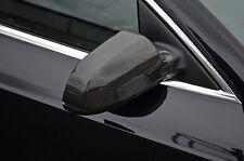 Para adaptarse a Audi A3, A5 (10 +) A4 (11 +): Fibra de carbono, ala Espejo Moldura Set Cubre Tapas