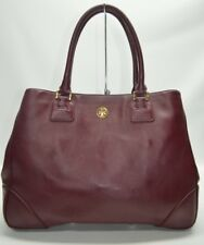 TORY BURCH $575 Burgundy Red Saffiano Leather Robinson East-West Leather Tote