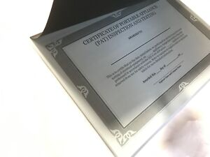 Tear-Off Pad of 50 PAT Test Certificates, Printed Blue Card