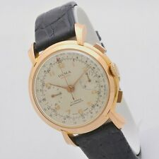 Olma De Luxe Chronograph 39 mm 18 kt rose gold manual Valjoux 22 serviced