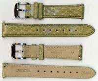 Invicta Genuine 16mm Green Cobra Leather Watch Strap IS250 BRAND NEW!!