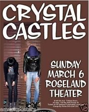 CRYSTAL CASTLES 2011 PORTLAND CONCERT TOUR POSTER