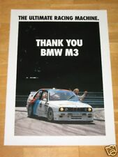 BMW M3 E30 POSTER 7 - THANK YOU M3 - RAR DIN A1 RARE VINTAGE IN MINT