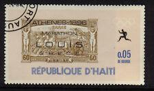 OLYMPICS ATHENS 1896 GREECE MARATHON CTO NH HAITI 1969 STAMPS ON STAMPS